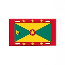 Flag of Grenada Aluminum License Plate