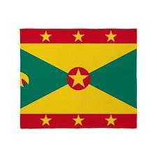 Flag of Grenada Throw Blanket