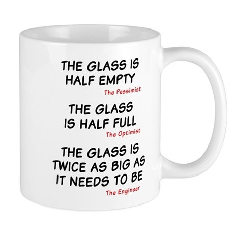 The glass is too big Mug