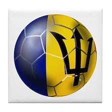 Barbados Football Tile Coaster