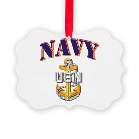 Navy - NAVY - SCPO Picture Ornament