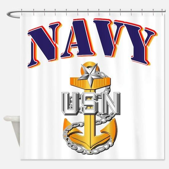 Navy - NAVY - SCPO Shower Curtain