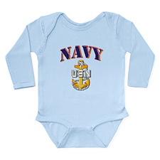 Navy - NAVY - SCPO Long Sleeve Infant Bodysuit