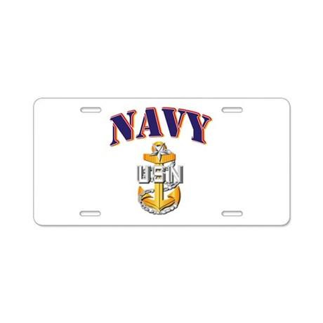 Navy - NAVY - SCPO Aluminum License Plate