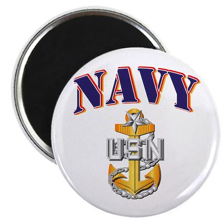"Navy - NAVY - SCPO 2.25"" Magnet (100 pack)"