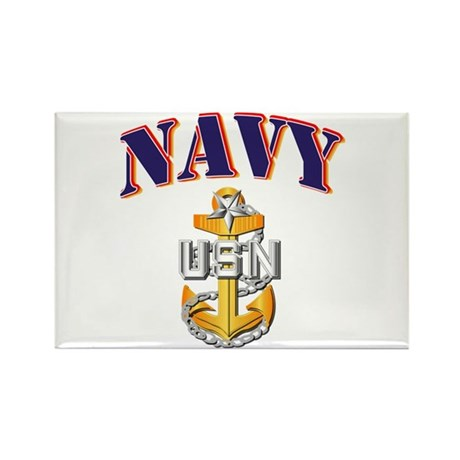 Navy - NAVY - SCPO Rectangle Magnet (10 pack)
