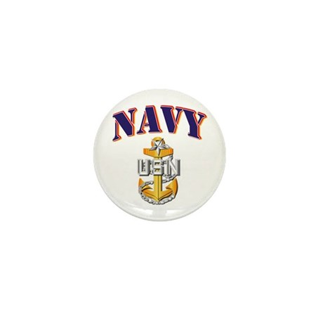Navy - NAVY - SCPO Mini Button (10 pack)