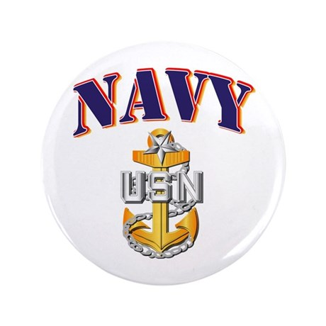 "Navy - NAVY - SCPO 3.5"" Button (100 pack)"