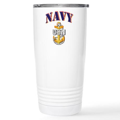 Navy - NAVY - SCPO Stainless Steel Travel Mug