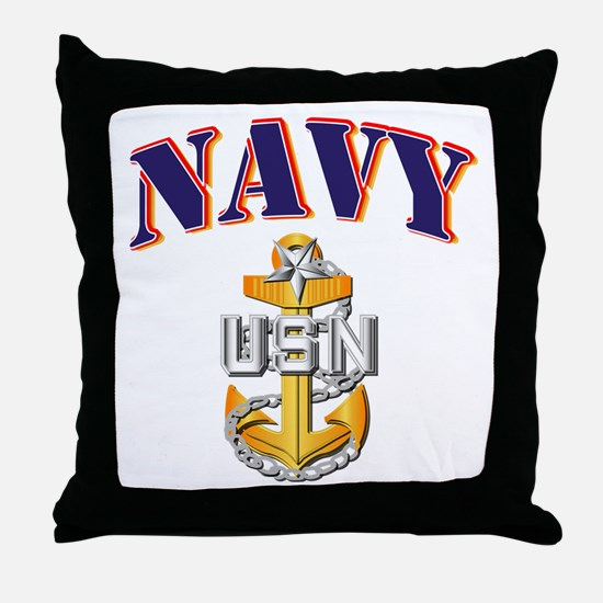 Navy - NAVY - SCPO Throw Pillow