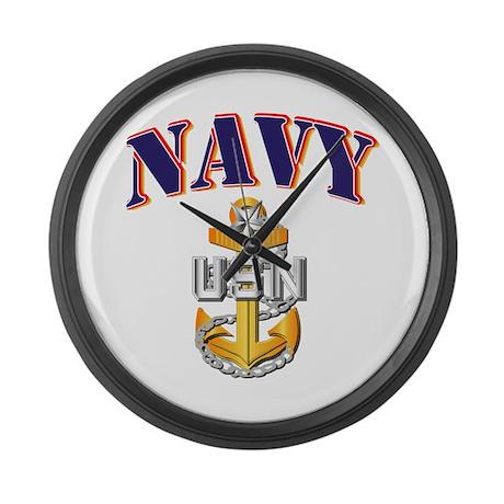 Navy - NAVY - SCPO Large Wall Clock