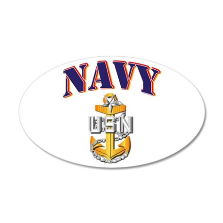 Navy - NAVY - SCPO 20x12 Oval Wall Decal