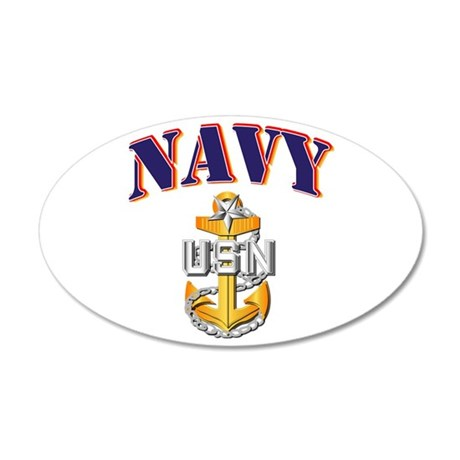Navy - NAVY - SCPO 35x21 Oval Wall Decal