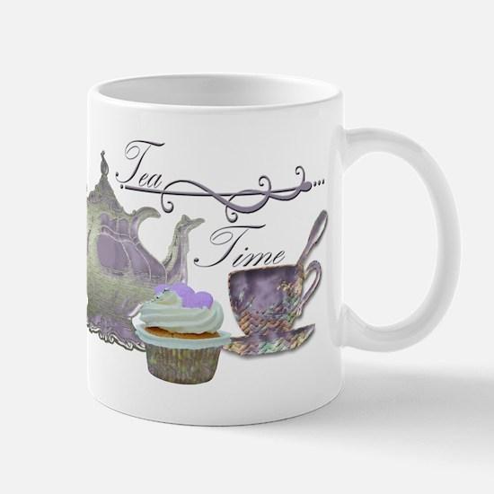 Tea Time Lilac Tea Set and Cupcake Mug