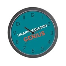 Unappreciated Genius Wall Clock