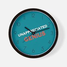 Unappreciated Genius Wall Clock