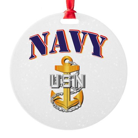 Navy - NAVY - CPO Round Ornament