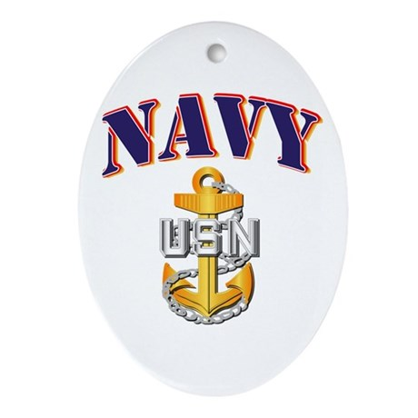 Navy - NAVY - CPO Ornament (Oval)