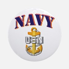 Navy - NAVY - CPO Ornament (Round)