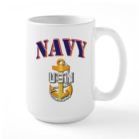 Navy - NAVY - CPO Large Mug
