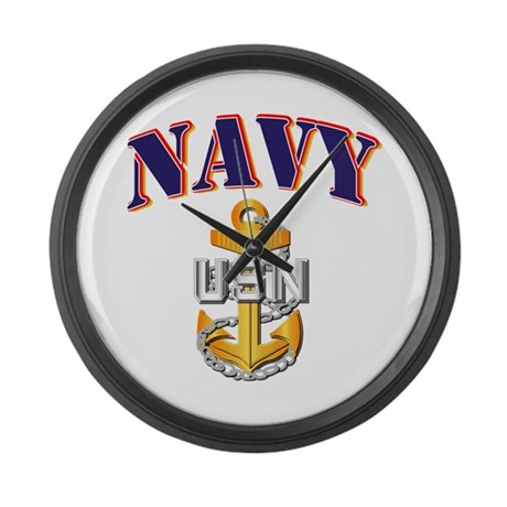 Navy - NAVY - CPO Large Wall Clock