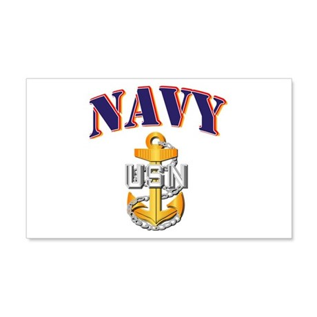 Navy - NAVY - CPO 20x12 Wall Decal