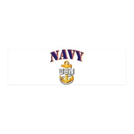 Navy - NAVY - CPO 36x11 Wall Decal
