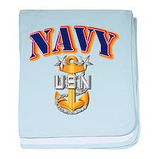 Navy - NAVY - MCPO baby blanket