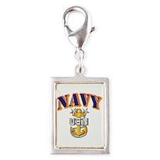 Navy - NAVY - MCPO Silver Portrait Charm