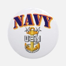 Navy - NAVY - MCPO Ornament (Round)