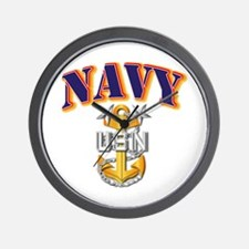 Navy - NAVY - MCPO Wall Clock