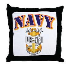 Navy - NAVY - MCPO Throw Pillow