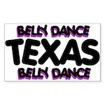 Belly Dance Texas Rectangle Sticker