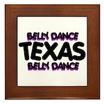 Belly Dance Texas Framed Tile