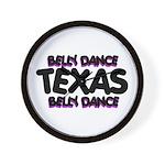 Belly Dance Texas Wall Clock