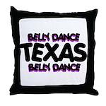 Belly Dance Texas Throw Pillow
