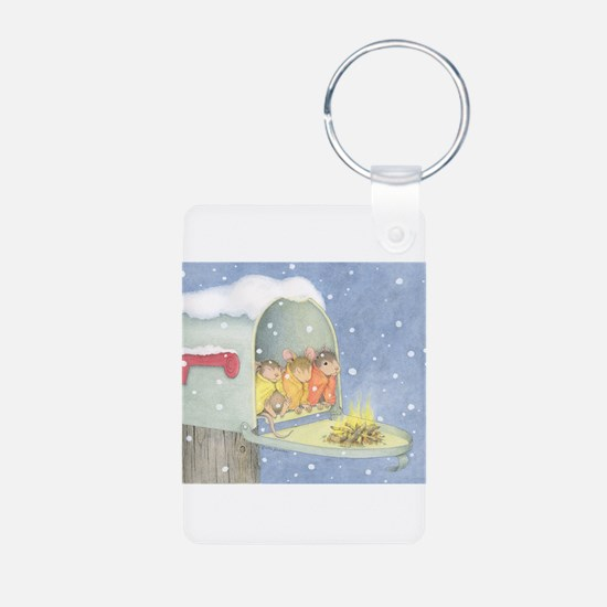 Warm, snowy snuggle Keychains