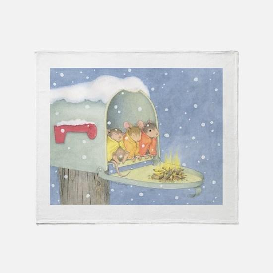 Warm, snowy snuggle Throw Blanket