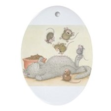 Kitty Trampoline Ornament (Oval)