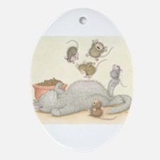 Kitty Trampoline Ornament (Oval)