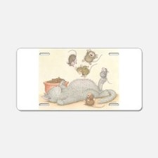 Kitty Trampoline Aluminum License Plate
