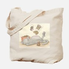 Kitty Trampoline Tote Bag