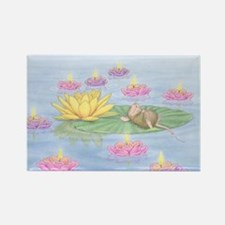 Lily Pad Snooze Rectangle Magnet