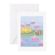 Lily Pad Snooze Greeting Cards (Pk of 10)