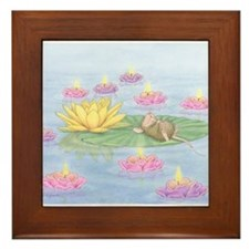 Lily Pad Snooze Framed Tile