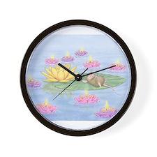 Lily Pad Snooze Wall Clock