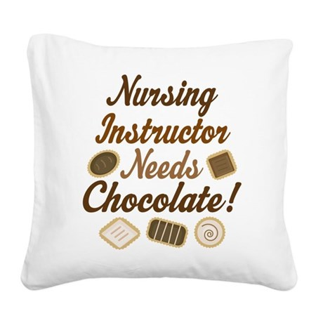 Nursing Instructor Square Canvas Pillow