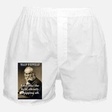 Love Like The Light - Whitman Boxer Shorts