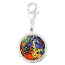 Deer by Franz Marc Silver Round Charm