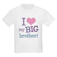 Love My Big Brother Kids T-Shirt